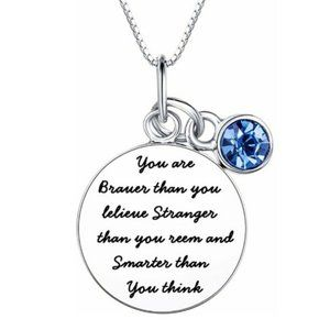 """""""Braver Than You Believe"""" Necklace"""
